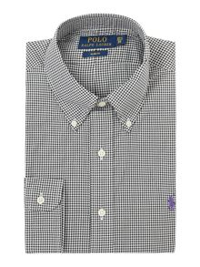 Slim Fit Check Poplin Shirt