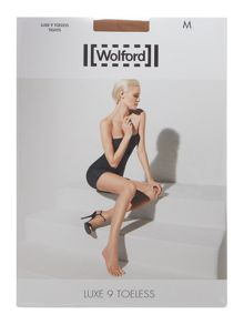 Wolford Luxe 9 denier toeless tights