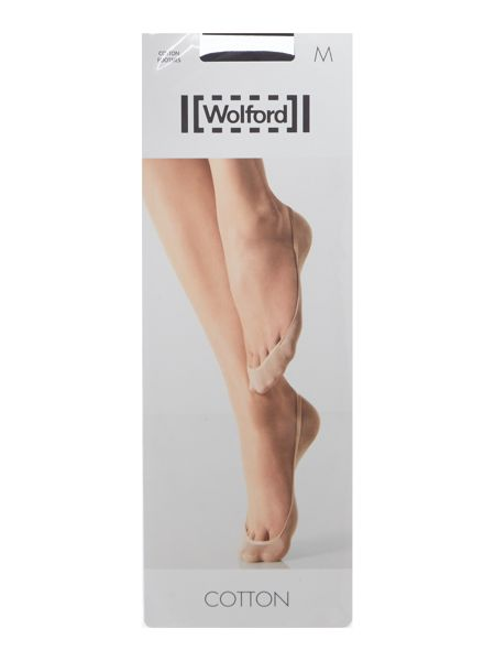 Wolford Cotton 3 pair pack 15 denier footsie socks