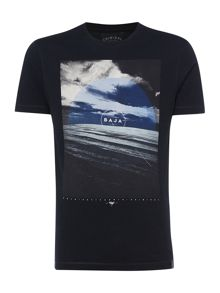 Baja Graphic Crew Neck Slim Fit T-Shirt