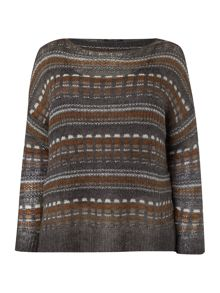 Marina Rinaldi Square pattern knit jumper