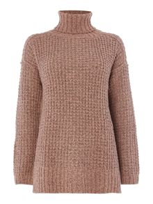 Calvin Klein Coral roll neck jumper in rosette
