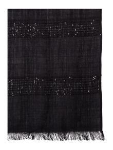 Horizontal Block Sequin Scarf