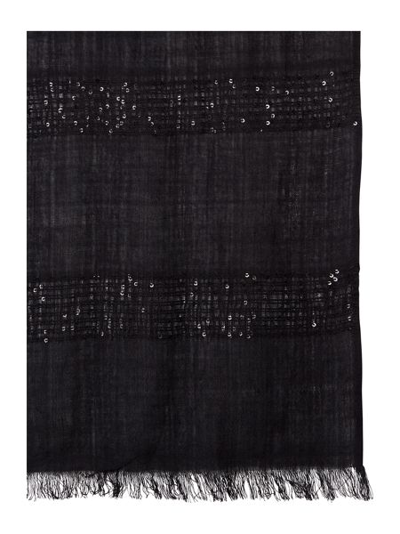 Untold Horizontal Block Sequin Scarf
