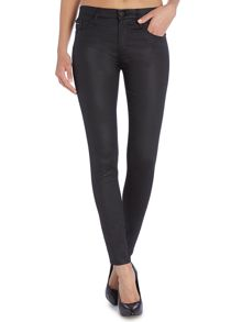Calvin Klein Mid rise super skinny jean in soft coated black