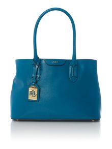 Lauren Ralph Lauren Tate blue large tote bag