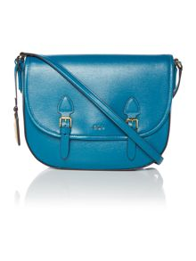 Lauren Ralph Lauren Tate blue satchel crossbody bag