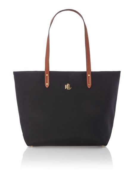 Lauren Ralph Lauren Bainbridge black large tote bag