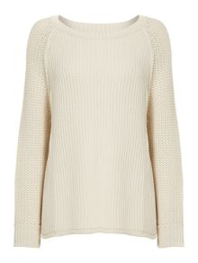 Label Lab Textured sleeve side split jumper