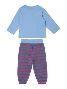 Boys Long Sleeve Top And Bottom Bubsy Bear Set