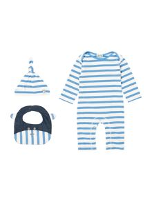 Boys All-In-One, Hat And Bib Giftbox