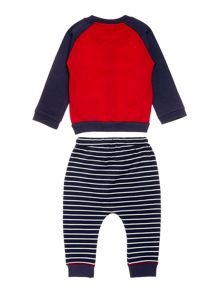 Lilly & Sid Boys Top And Stripey Bottom Baseball Set