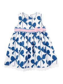 Girls bow print dress