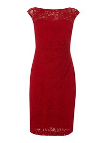 Lauren Ralph Lauren Amaia cap sleeve stretch lace dress