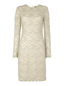 Halle floral lace dress with long sleeves