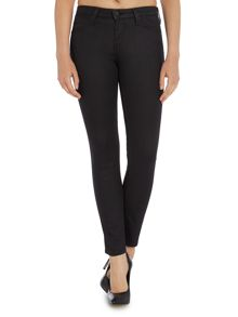 Lee Scarlett coated mid rise skinny jean in black
