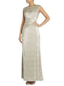 Latima cowl neck metallic gown