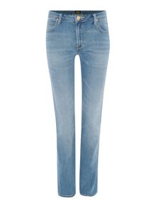 Lee Marion straight leg jean in blue sign
