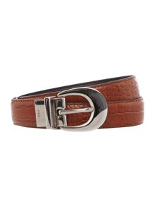 Lanesborough Black 1 reversible croc belt