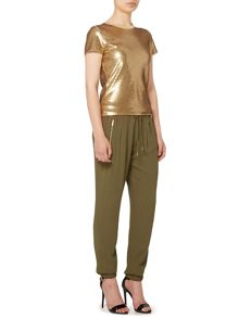 Michael Kors Short sleeve sequin top