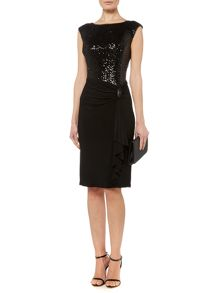 Lauren Ralph Lauren Alforda sleeveless dress with sequin top