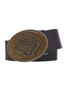 Classics black 1 1/2 plaque belt