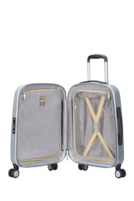 Xylem silver 55cm cabin spinner suitcase