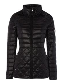 Horizontal quilted coat
