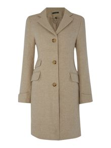 Tweed reefer coat