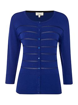 Cobalt textured cardigan
