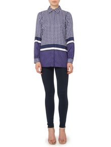 Michael Kors Long sleeve border print shirt