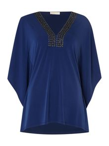 Michael Kors Embellished neck kaftan