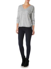 Linea Weekend LS Chakra Stripe Top