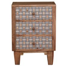 Living by Christiane Lemieux Geo 3 drawer bedside chest