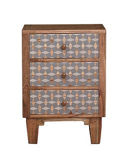 Living by Christiane Lemieux Geo 3 drawer bedside