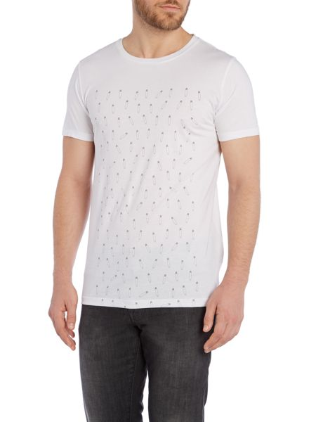 Hugo Boss Pattern Crew Neck Regular Fit T-Shirt