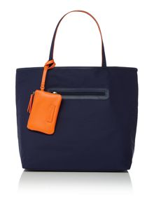 Large zip top nylon tote bag
