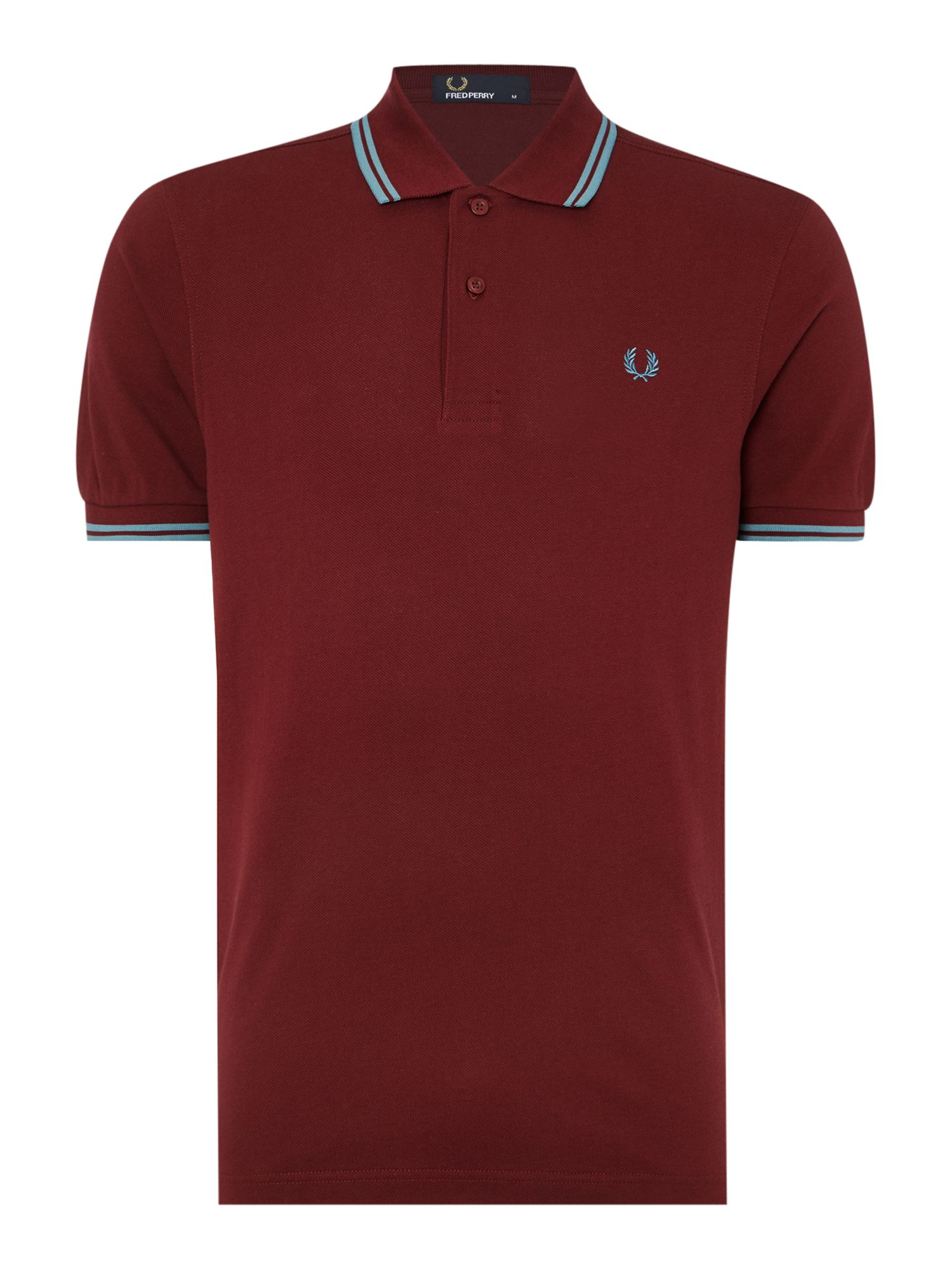 Mens Fred Perry Twin Tipped Regular Fit Polo Shirt Port