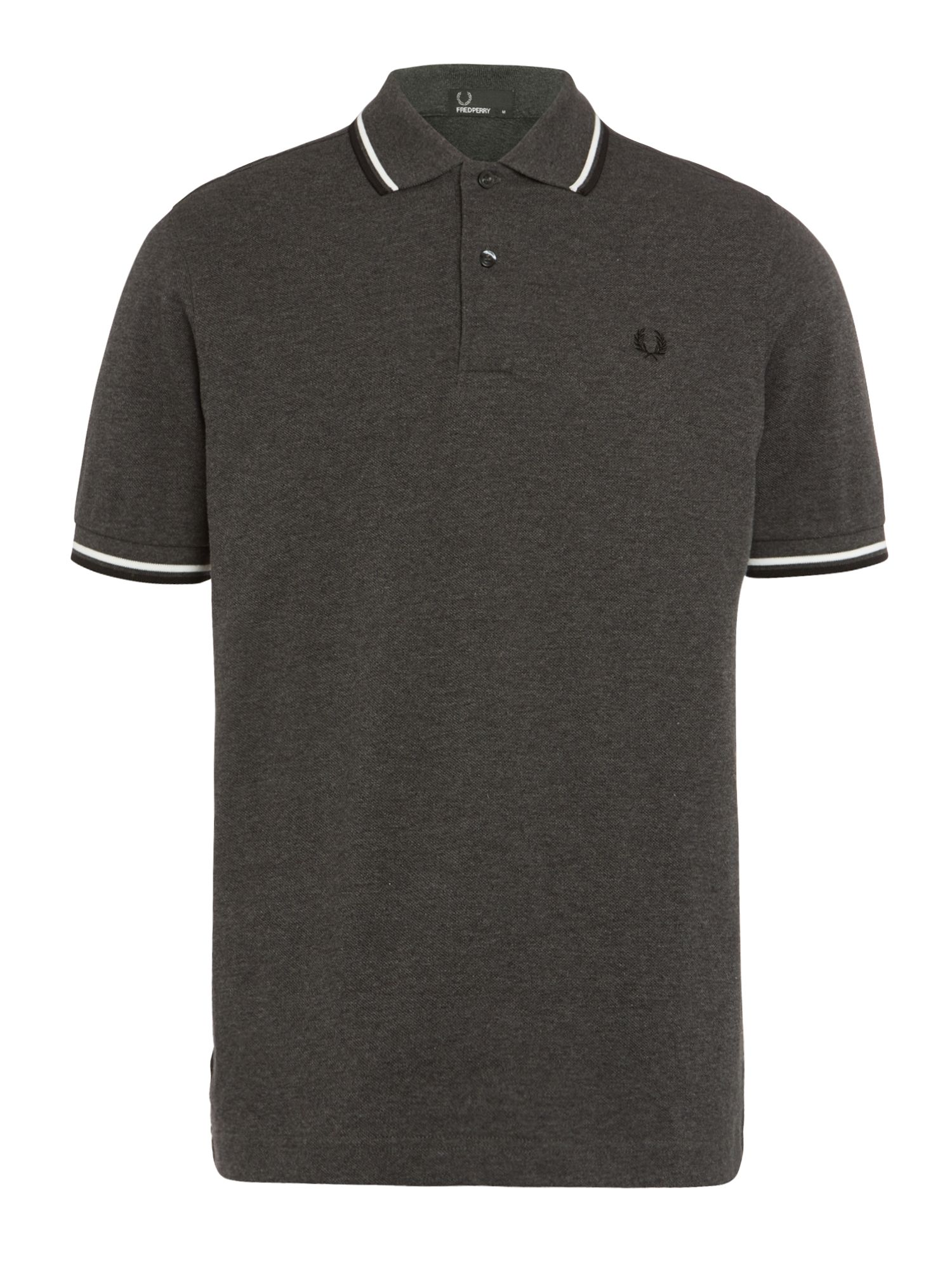 Mens Fred Perry Twin Tipped Regular Fit Polo Shirt Graphite