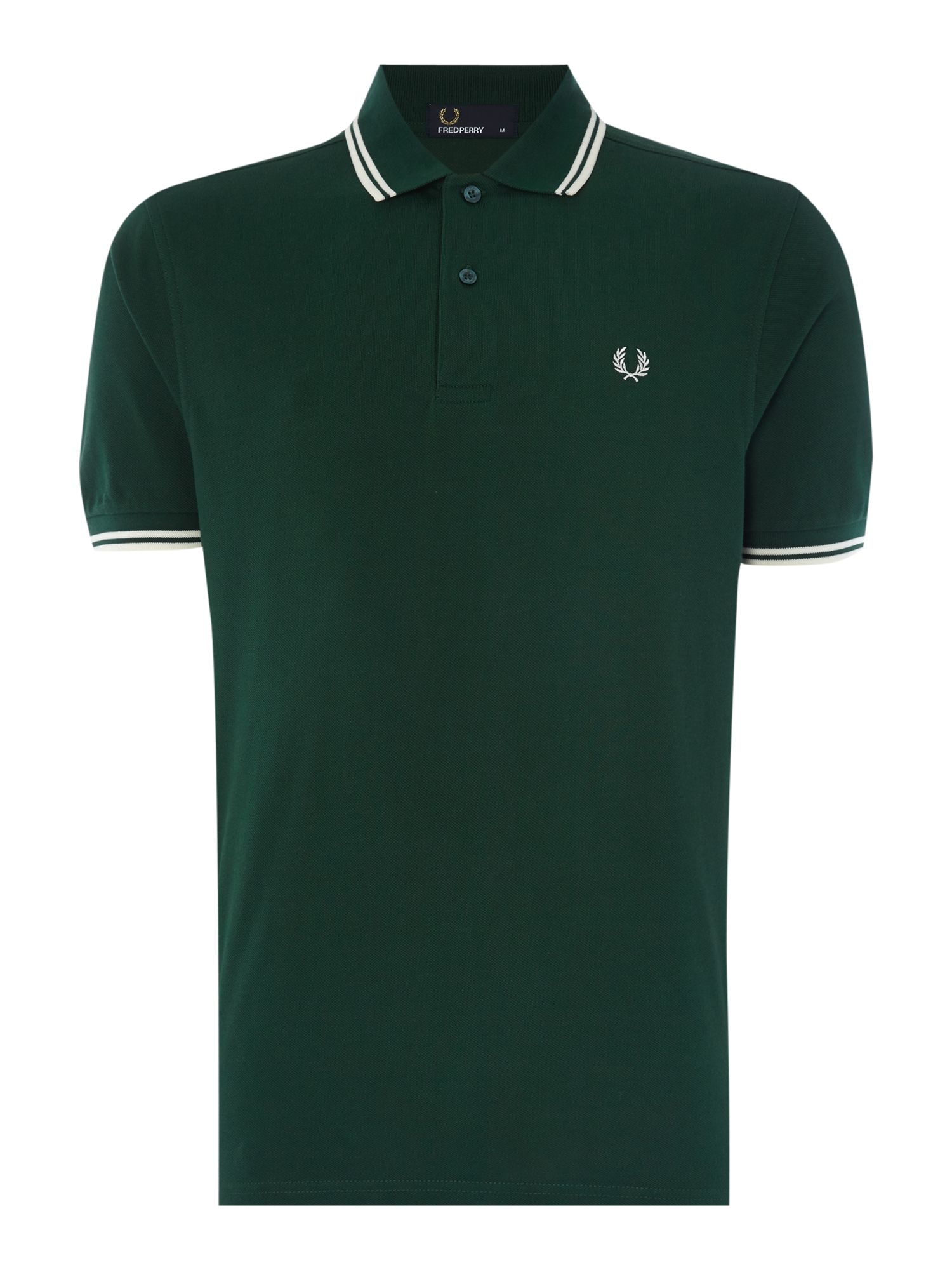 Mens Fred Perry Twin Tipped Regular Fit Polo Shirt Ivy
