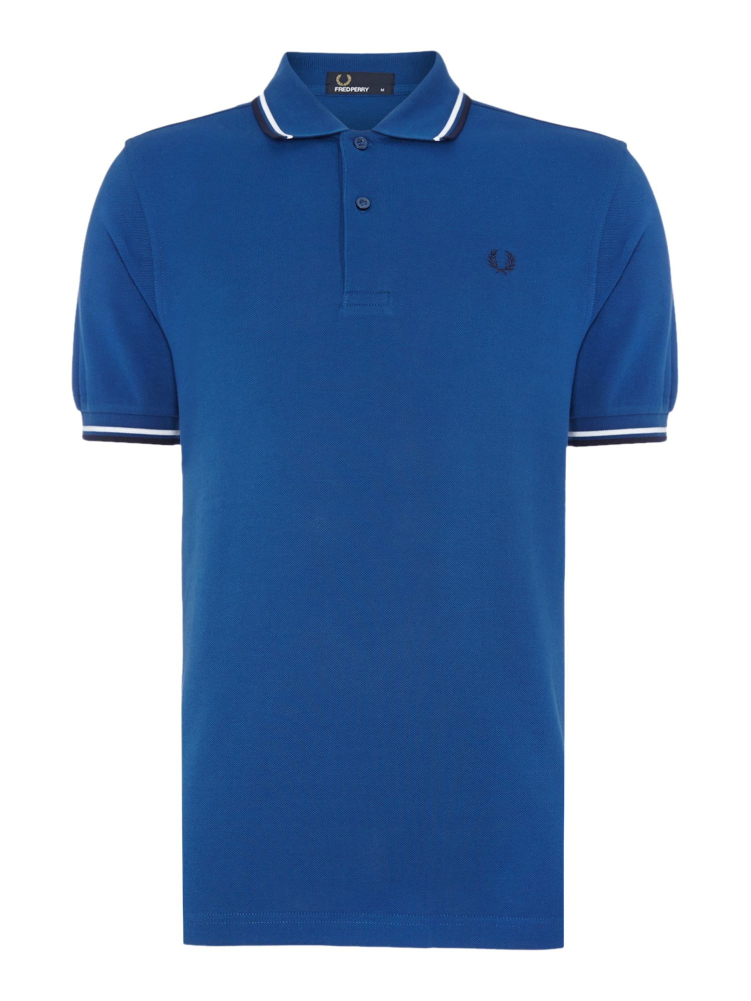 Mens Fred Perry Twin Tipped Regular Fit Polo Shirt Royal Blue