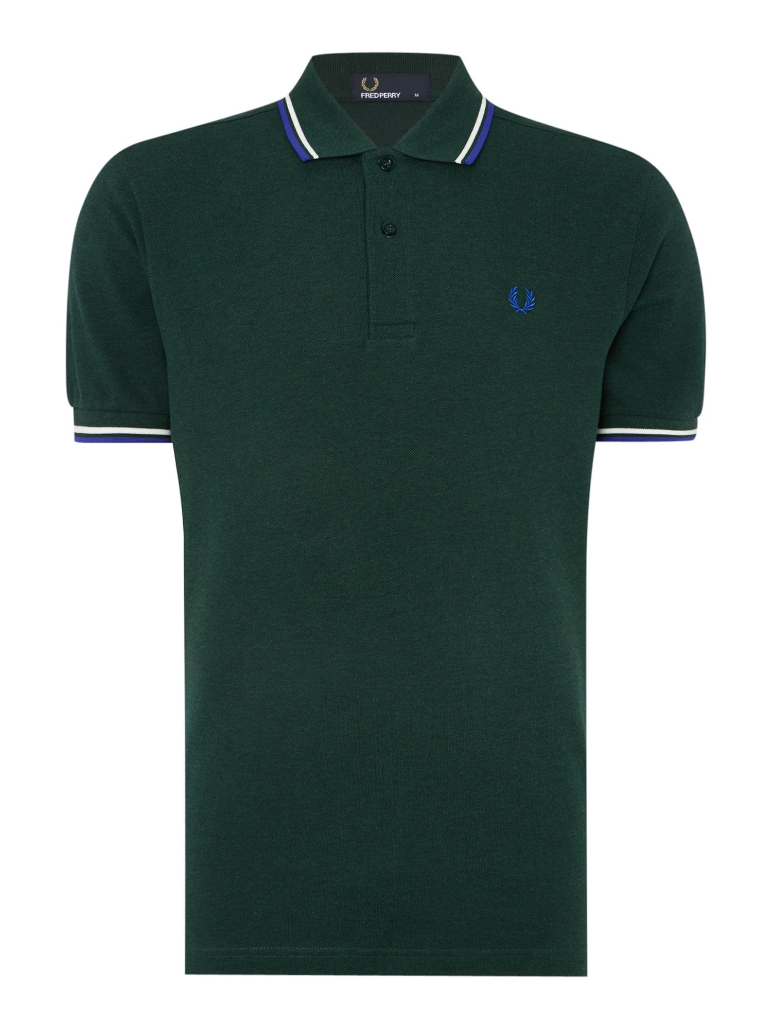 Mens Fred Perry Twin Tipped Regular Fit Polo Shirt Green