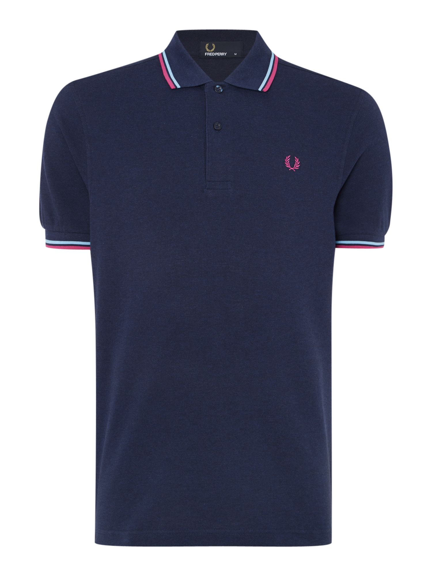 Mens Fred Perry Twin Tipped Regular Fit Polo Shirt Dark Grey Marl