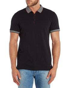 Pejo regular fit tipped pique polo shirt