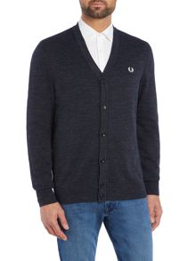 Fred Perry Budding Yarn Tippedin Crew Neck Button Cardigan