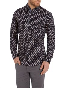 Hugo Boss Eslime Slim Fit Paisley shirt