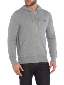 Fred Perry Plain Hoody Zip-Thru Fastening