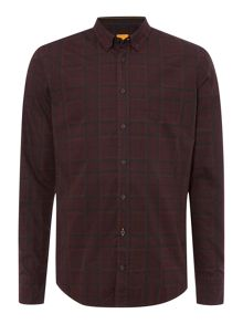 Hugo Boss Edipoe Slim Fit Check Button Down Shirt