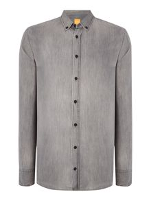 Hugo Boss Edipoe Slim fit button down denim shirt
