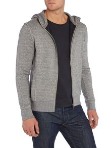 Plain Crew Neck Zip Fastening Zip-Thru